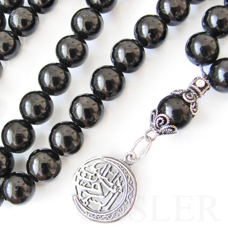 четки мусульманские из чёрного турмалина